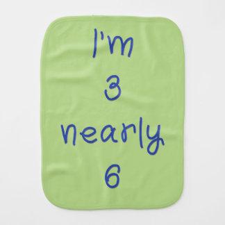 I'm 3 nearly 6 burp cloth