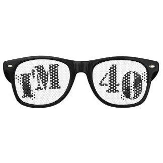 I'm 40 - 40th Birthday Novelty Party Glasses