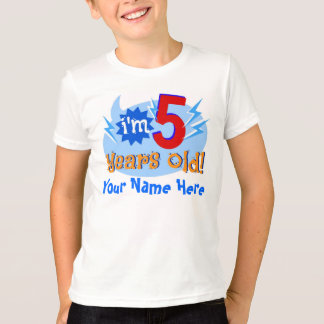 I'm 5 Years Old! (Personalize with Child's Name) T-Shirt