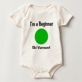 I'm a Beginner Ski Vermont Baby Bodysuit