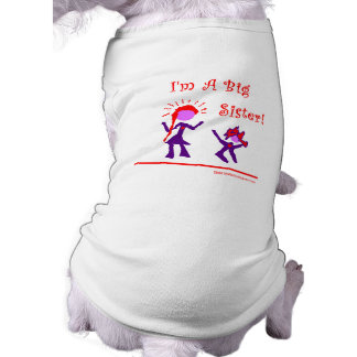 I'm A Big Sister! Sleeveless Dog Shirt