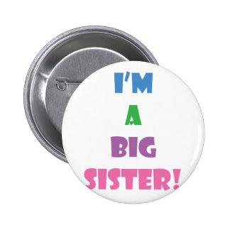 I'm a big sister text 6 cm round badge