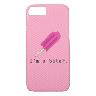 I'm A Biter Pink Popsicle Iphone Case
