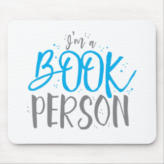 I'm a book person mouse pad