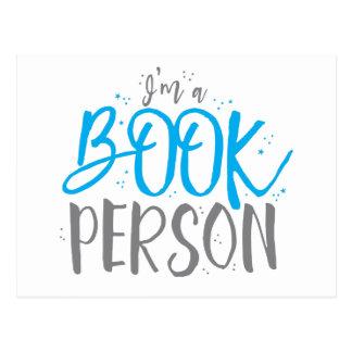 I'm a book person postcard
