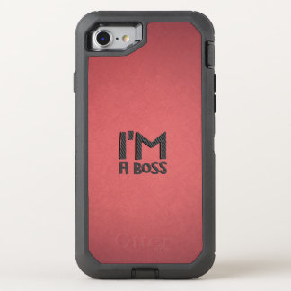 I'm A Boss Red OtterBox Defender iPhone 8/7 Case