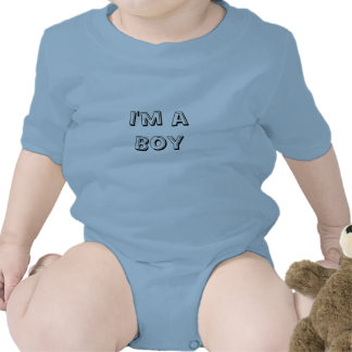 I'm a Boy Baby Blue Creepers custom Bodysuits