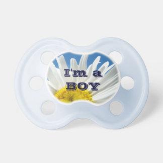 I'm a Boy! baby pacifier custom Designer Blue Sky
