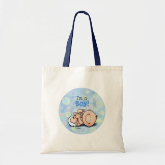 I'm a BOY - new baby Tote Bags
