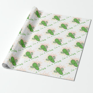 i'm a cactus wrapping paper