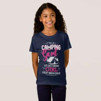 I'm A Camping Girl Funny Cool Tent Camper T-Shirt