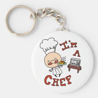 I'm a chef! basic round button key ring