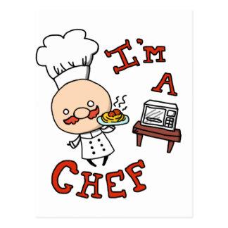 I'm a chef! postcard