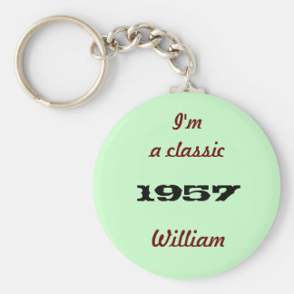 I'm a classic basic round button key ring