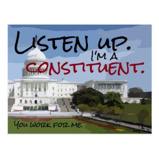I'm A Constituent Postcard