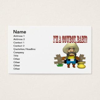 Im A Cowboy Baby Business Card