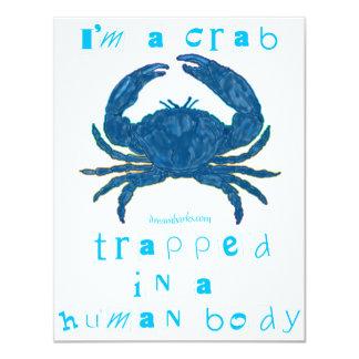 "I'm a Crab 4.25"" X 5.5"" Invitation Card"