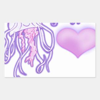 I'm a cutie silly jellyfish rectangular sticker