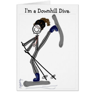 I'm a Downhill Diva Card