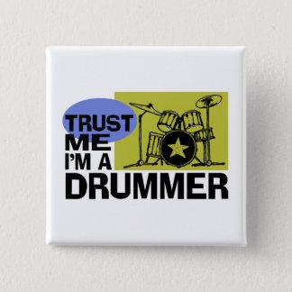 I'm A Drummer Button
