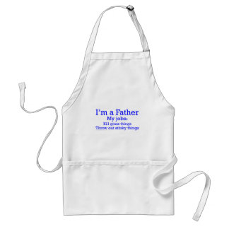I'm a Father Funny Father's Jobs for Dad Adult Apron