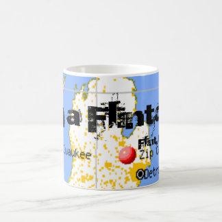 Im A Flintoid Flint Michigan Map Coffee Cup Mug