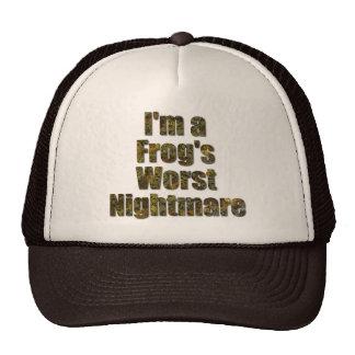 I'm a frog's worst nightmare cap