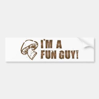 I'M A FUN GUY Mushroom Fungi Bumper Sticker