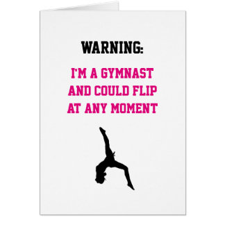 I'm a Gymnast Magenta Gymnastics Fun Quote Flip Card