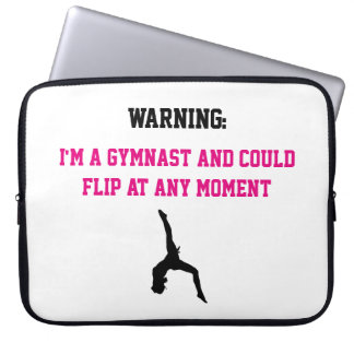 I'm a Gymnast Magenta Gymnastics Fun Quote Flip Laptop Sleeve