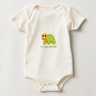 """I'm a happy little turtle - Customize it Baby Bodysuit"