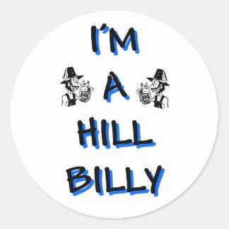 I'm a hillbilly classic round sticker