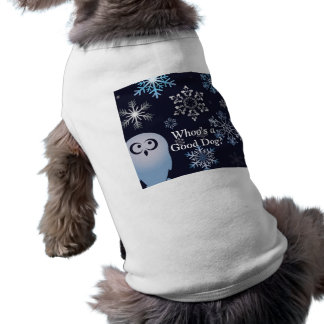 I'm A Hoot Snowy Owl Christmas Owl Blue Sleeveless Dog Shirt