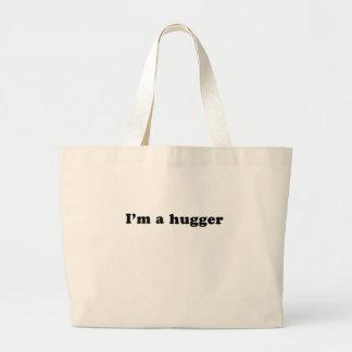 I'm a hugger canvas bag