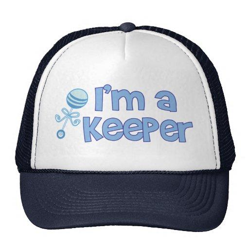 I'm a keeper (new baby boy) mesh hats