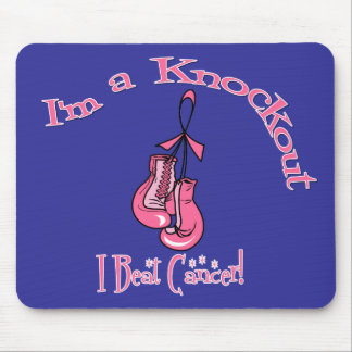 I'm A Knockout I Beat Breast Cancer Mouse Pads