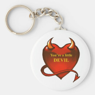 I'm a little devil basic round button key ring