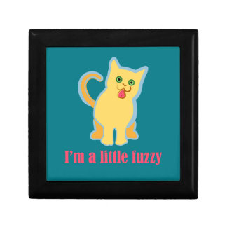 I'm a Little Fuzzy Funny Cat Gift Box