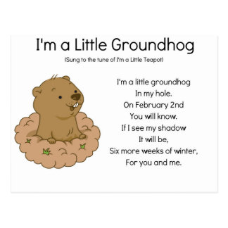 I'm a Little Groundhog Postcard