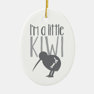 I'm a little kiwi with cute New Zealand bird Ceramic Oval Decoration