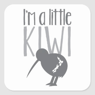 I'm a little kiwi with cute New Zealand bird Square Sticker