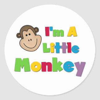 I'm a Little Monkey Classic Round Sticker