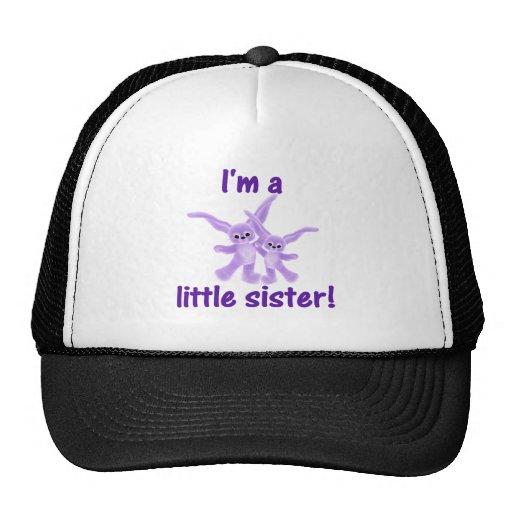 I'm a little sister (purple bunnies) trucker hats