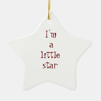 I'm a little star ceramic star decoration