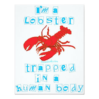"I'm a Lobster 4.25"" X 5.5"" Invitation Card"