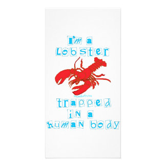 I'm a Lobster Customized Photo Card