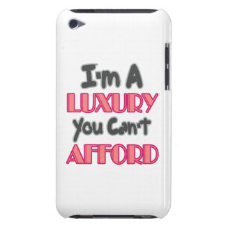 I'm A Luxury You Can't Affor - Grey and Pink Quote Barely There iPod Cover