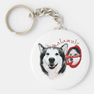 I'm a Malamute, I'm not a Husky Basic Round Button Key Ring