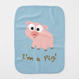 I'm a pig! burp cloth