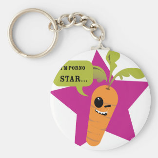 i'm a porn star !! © Les Hameçons Cibles Basic Round Button Key Ring